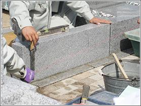 庵治石の施工例